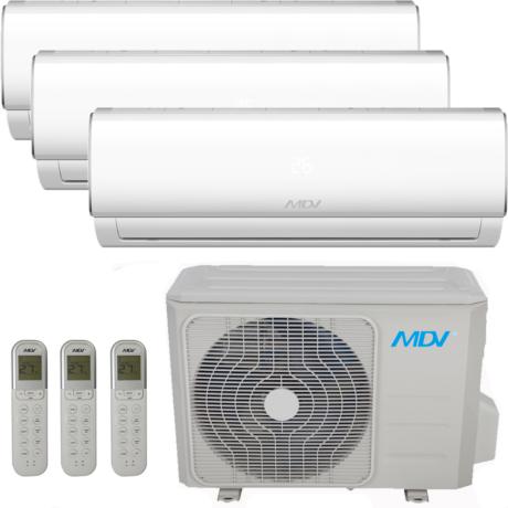MDV (MIDEA) TRIAL KLÍMA 3x 2.6 kW.beltéri + 1 DB 7.9 kW.kültéri RAG026B-IU X 3 / RM2B-079B-OU